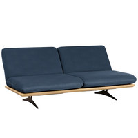 SCHLAFSOFA in Holz, Textil Dunkelblau - Schwarz/Dunkelblau, Design, Holz/Textil (204/92/90cm) - Dieter Knoll