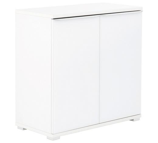 KOMMODE 80/80/40 cm - Chromfarben/Weiß, Design, Glas/Holzwerkstoff (80/80/40cm) - Moderano