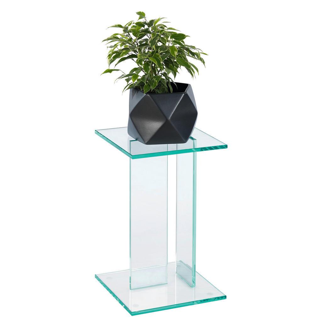 Image of XXXLutz Blumensäule in glas 25/25/41 cm , Viola , Klar , 25x41x25 cm , transparent , 002757000301