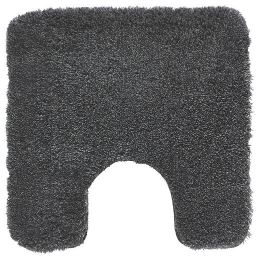 WC-VORLEGER  Anthrazit  55/55 cm - Anthrazit, Basics, Kunststoff/Textil (55/55cm) - Kleine Wolke
