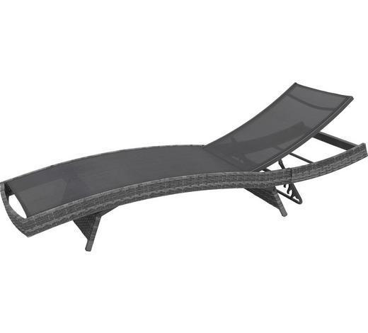 LEŽALJKA VRTNA - siva/crna, Design, metal/tekstil (203/38/69cm) - Ambia Garden