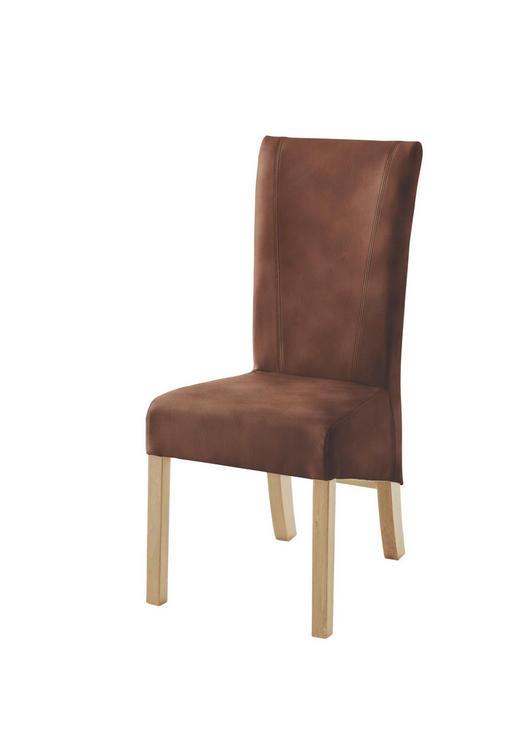 STUHL Lederlook Braun - Braun, Design, Holz/Textil (50/105/60cm) - Carryhome