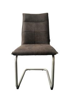 STOLICA NA SANKAMA - Siva/Boja nerđajućeg čelika, Moderno, Tekstil/Metal (46/93/59,50cm) - Novel