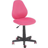 JUGENDDREHSTUHL - Pink/Schwarz, Design, Kunststoff/Textil (42/82-94/58cm) - XORA