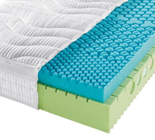 KALTSCHAUMMATRATZE 90/200 cm - Creme/Weiß, Basics, Textil (90/200cm) - Physiosleep