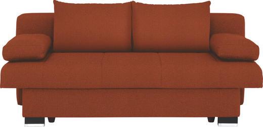 SCHLAFSOFA Orange - Wengefarben/Orange, KONVENTIONELL, Holz/Textil (200/80/104cm) - NOVEL