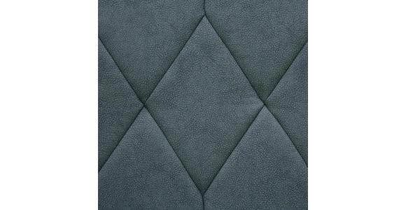 SITZBANK Lederlook Edelstahlfarben, Grau - Edelstahlfarben/Grau, Design, Textil/Metall (155/88/65cm) - Novel