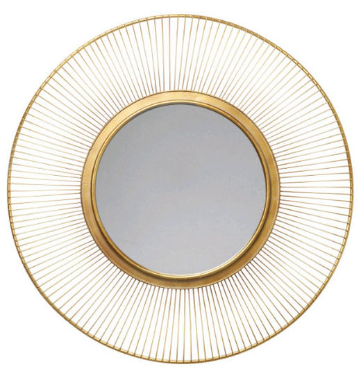 SPIEGEL Goldfarben - Goldfarben, Design, Metall (93/4cm) - Kare-Design