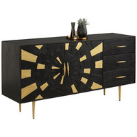 KOMODA SIDEBOARD - černá/barvy zlata, Trend, kov/dřevo (160/80/42,5cm) - Landscape