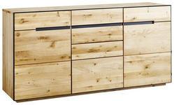 SIDEBOARD 165/82/42 cm  - Eichefarben/Anthrazit, KONVENTIONELL, Holz/Holzwerkstoff (165/82/42cm) - Linea Natura