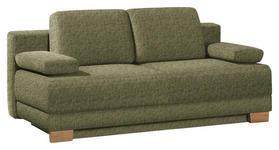 SCHLAFSOFA in Textil Grün - Eichefarben/Grün, KONVENTIONELL, Holz/Textil (200/95/101cm) - Venda