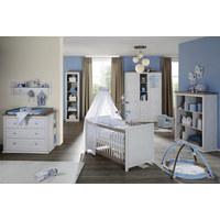 BABYKLEIDERSCHRANK Camron Grau, Weiß  - Weiß/Grau, Natur, Holzwerkstoff/Kunststoff (153/209,2/60,2cm) - My Baby Lou