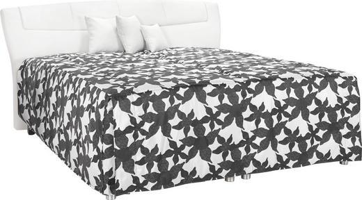 POLSTERBETT Lederlook 180/210 cm - Schwarz/Weiß, KONVENTIONELL, Textil (180/210cm) - ESPOSA