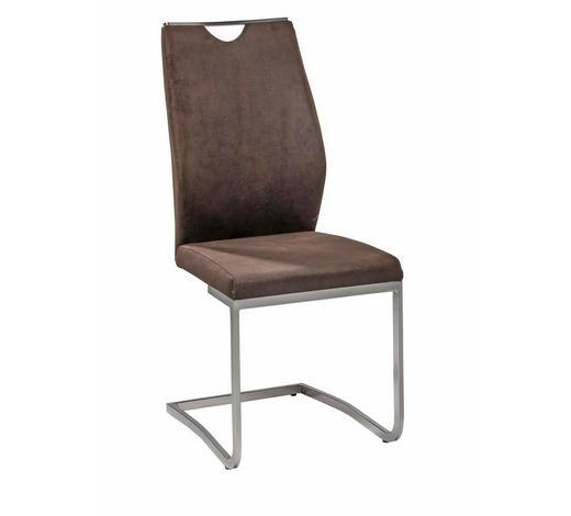 SCHWINGSTUHL Mikrofaser Dunkelbraun  - Dunkelbraun, Design, Textil/Metall (43/102/58cm) - Carryhome