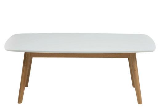 COUCHTISCH Eichefarben, Weiß - Eichefarben/Weiß, LIFESTYLE, Holz (110/60/42cm) - Carryhome