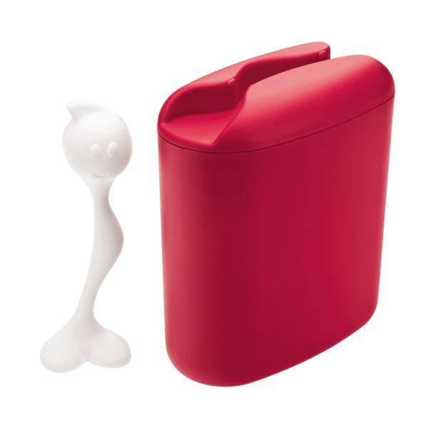 KAFFEEDOSE - Rot, Basics, Kunststoff - KOZIOL