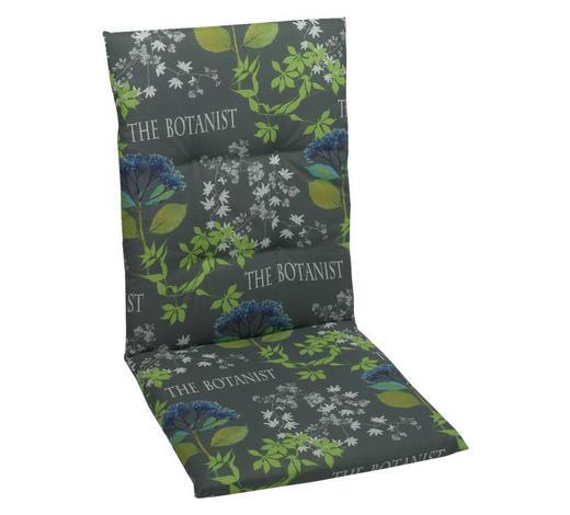 SESSELAUFLAGE Floral  - Blau/Grau, Design, Textil (48/108/5cm)