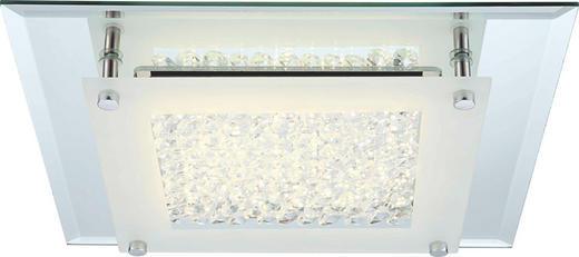 LED-DECKENLEUCHTE - Chromfarben, Design, Glas/Metall (36/36/6cm)