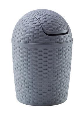 PAPPERSKORG MED VIPPLOCK - grå, Basics, plast (5,0l) - Plast 1