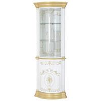 ECKVITRINE in Goldfarben, Weiß - Goldfarben/Weiß, LIFESTYLE, Glas/Holzwerkstoff (56/205/56cm)