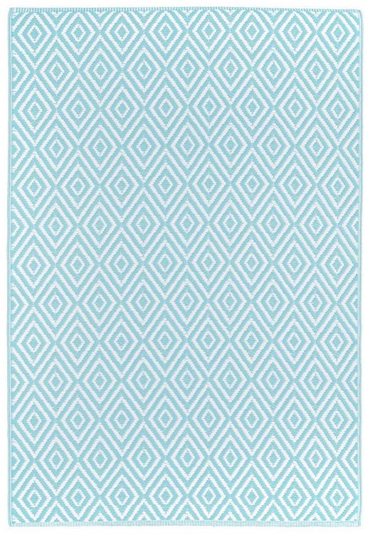 OUTDOORTEPPICH  In-/ Outdoor 90/150 cm  Hellblau, Weiß - Weiß/Hellblau, Trend, Textil (90/150cm) - Boxxx