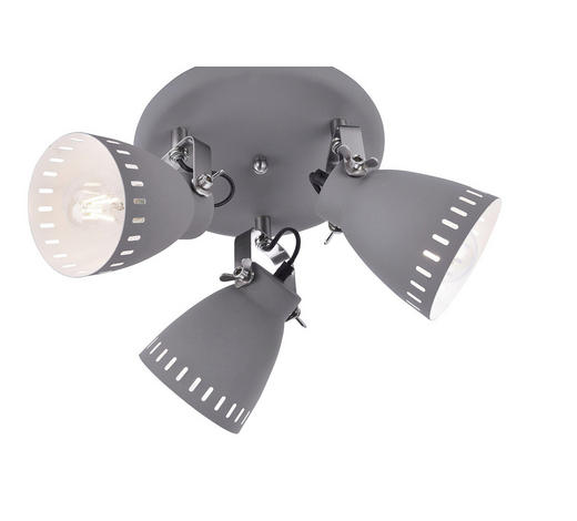 DECKENLEUCHTE - Grau, Basics, Metall (41/41/25cm) - Boxxx