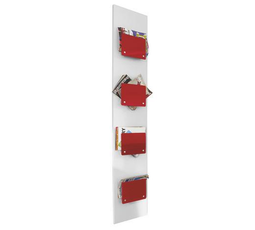WANDPANEEL - Rot/Weiß, Design, Glas/Holzwerkstoff (35/200/8cm) - Xora