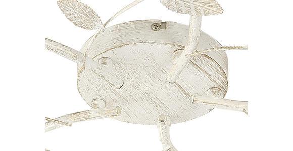 Deckenleuchte Eva Ø 53,5 cm mit Floralem Design - Weiß, Basics, Metall (53.5/8.5cm) - James Wood