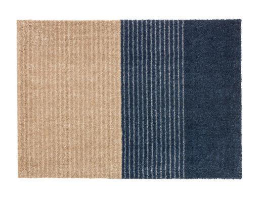 FUßMATTE 50/70 cm - Blau/Beige, Design, Textil (50/70cm) - Schöner Wohnen