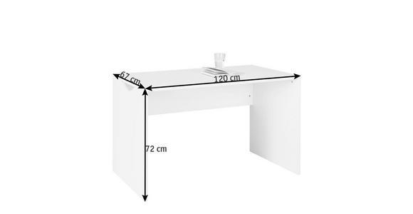 SCHREIBTISCH Weiß - Weiß, Design, Holzwerkstoff (120/72/67cm) - Cantus