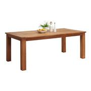 GARTENTISCH - Teakfarben, Design, Holz (220/75/100cm) - AMBIA GARDEN