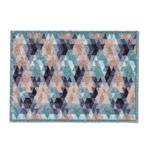 FUßMATTE 50/70 cm  - Blau/Beige, KONVENTIONELL, Textil (50/70cm) - Esposa