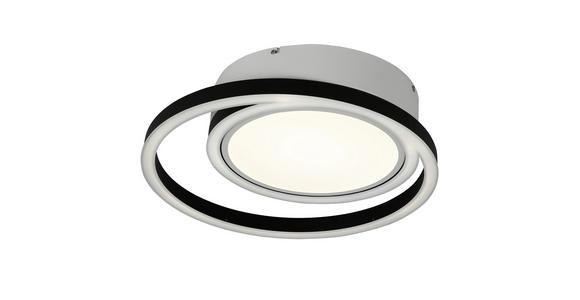 LED-DECKENLEUCHTE   - Schwarz/Weiß, Design, Kunststoff/Metall (50.5/10,5cm) - Ambiente