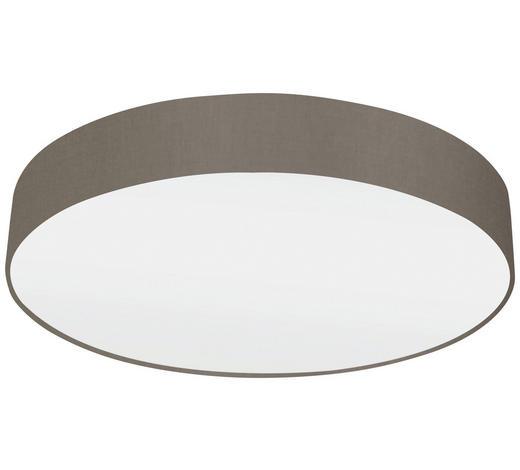 DECKENLEUCHTE - Taupe/Weiß, Design, Textil/Metall (57/15cm)
