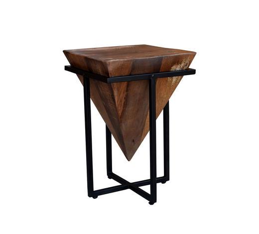 POMOĆNI STOLIĆ - prirodne boje/crna, Moderno, drvo/metal (36/56/36cm) - Ambia Home