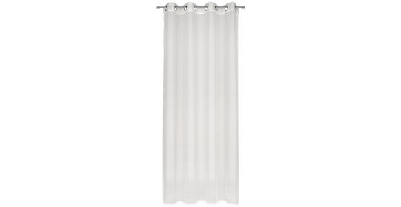 ÖSENVORHANG transparent  - Weiß, KONVENTIONELL, Textil (140/245cm) - Esposa