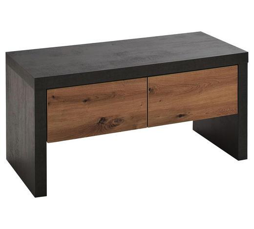 GARDEROBENBANK 91/45/38 cm - Eichefarben/Anthrazit, Design, Holz/Holzwerkstoff (91/45/38cm) - Voleo