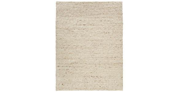 HANDWEBTEPPICH  90/160 cm  Weiß   - Weiß, Basics, Textil (90/160cm) - Linea Natura