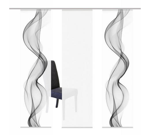 FLÄCHENVORHANG in Grau  - Grau, Design, Textil (60/245cm)