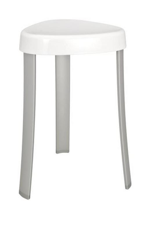 BADHOCKER - Alufarben/Weiß, Design, Kunststoff/Metall (37/45/37cm)