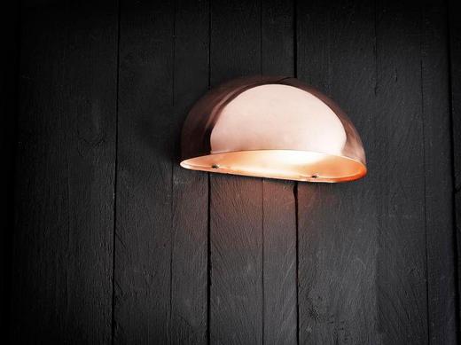 AUßENLEUCHTE Kupferfarben - Kupferfarben, Design, Kunststoff/Metall (20/10cm)
