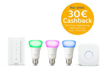 HUE WHITE & COLOR STARTER KIT  E27 60 W - Weiß, Design, Kunststoff (21/21/10,1cm) - Philips