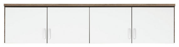 AUFSATZSCHRANK in Weiß, Eichefarben  - Eichefarben/Silberfarben, Basics, Holzwerkstoff/Kunststoff (181/39/54cm) - Carryhome