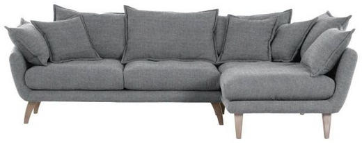 WOHNLANDSCHAFT in Textil Grau - Naturfarben/Grau, Design, Holz/Textil (267/170cm) - Carryhome