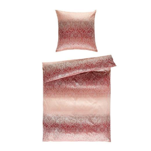 BETTWÄSCHE Jacquard Rosa 135/200 cm - Rosa, Design, Textil (135/200cm)