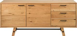 SIDEBOARD 180/85/44 cm  - Eichefarben/Schwarz, KONVENTIONELL, Holz (180/85/44cm) - Carryhome