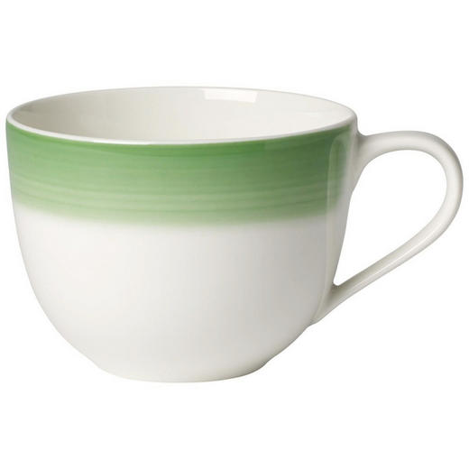 KAFFEETASSE 230 ml - Creme/Grün, KONVENTIONELL, Keramik (0,23l) - Villeroy & Boch