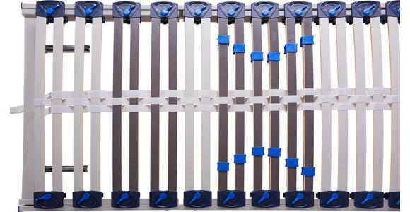 LATTENROST 100/200 cm Birke ,Schichtholz - Hellgrau/Weiß, Basics, Holz (100/200cm) - Voleo
