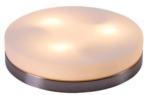 LED-DECKENLEUCHTE - Nickelfarben, LIFESTYLE, Glas/Metall (30/6,5cm)