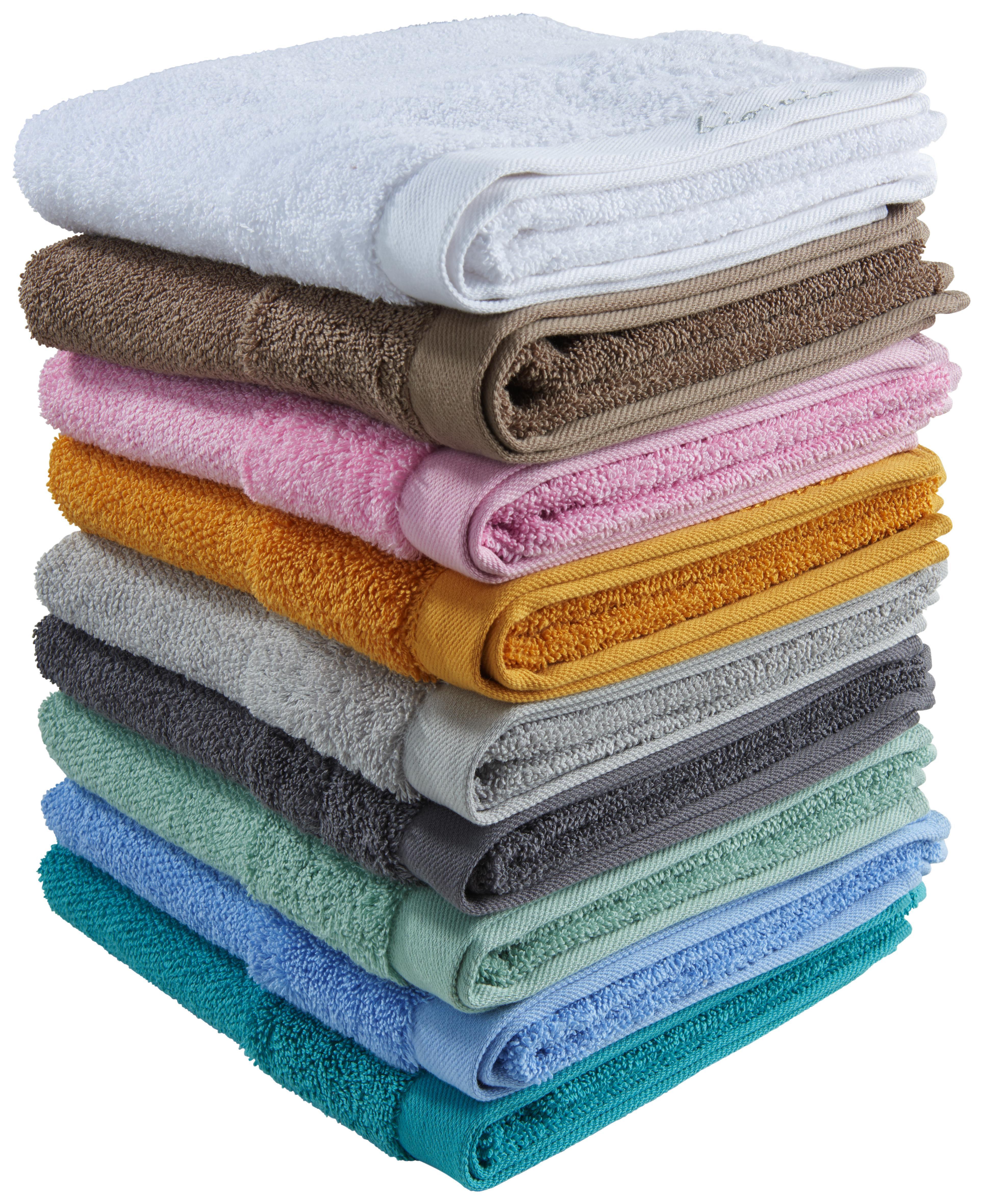 HANDDUK - turkos, Natur, textil (50/100cm) - Bio:Vio